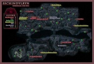 Dungeons and Dragons Online Sschindylryn Wilderness Map
